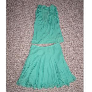 Generra 100% Silk Top and Skirt 4 NWOT